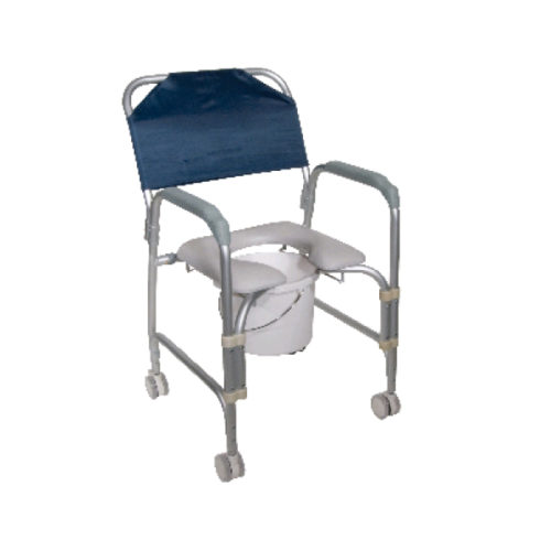 Rolling Shower Chair with Commode