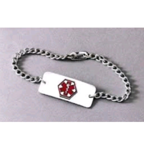 ID Bracelet Stainless Steel Chain 8″