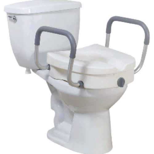 Toilet Seat Riser With Offset Handles