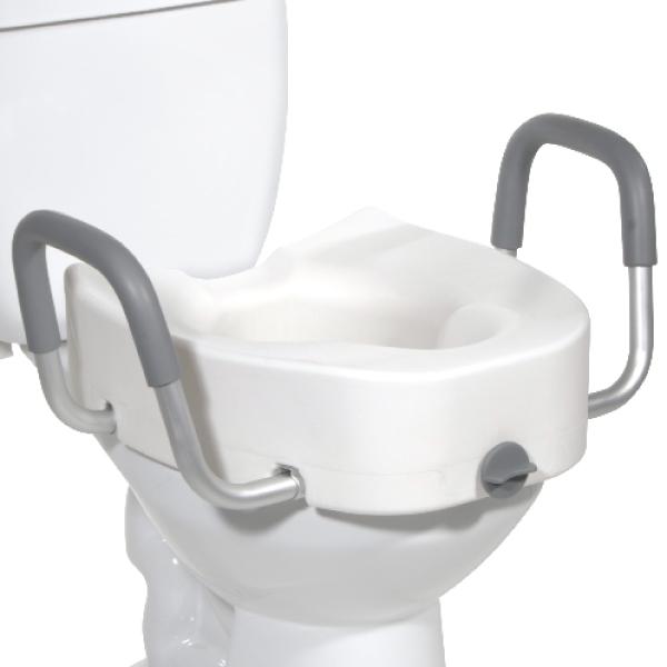 Swell Toilet Seat Riser Elongated With Handles Customarchery Wood Chair Design Ideas Customarcherynet