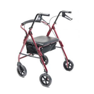 Rollator Bariatric Four-Wheel Burgundy (Junior)