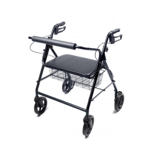 Rollator Bariatric Four-Wheel Black (Adult)