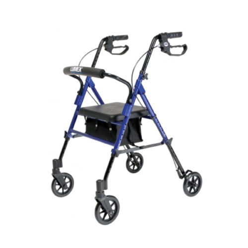 Rollator - 4 Wheel With Adjustable Seat Height