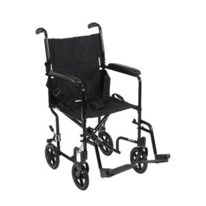 "Aluminum Transport Chair 17"" & 19"""