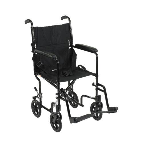 """Aluminum Transport Chair 17"""" & 19"""""""